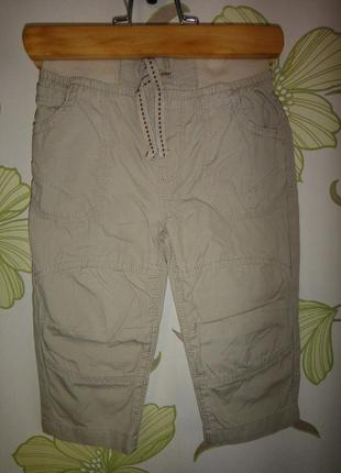 Летние бежевые брюки rebel 9-12 мес, 80 см