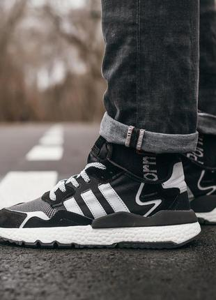 Adidas nite jogger замшевые мужские кроссовки адидас черный цв...