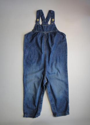 Летний джинсовый комбинезон h&m  9-12 мес