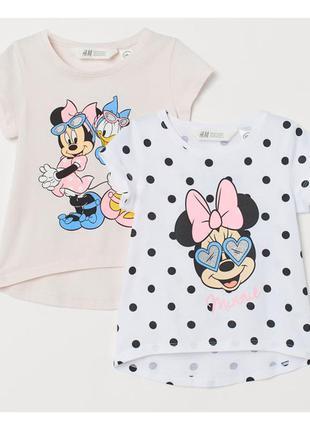 H&m набор футболок для девочки на 6-8 лет