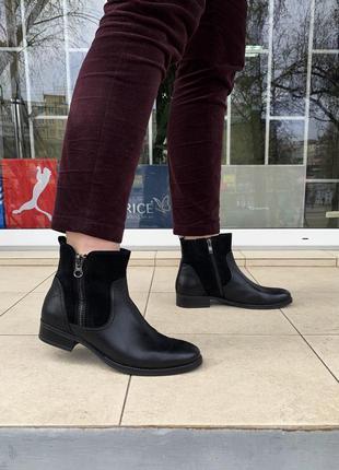 Ботинки caprice оригинал германия натуральная кожа замша