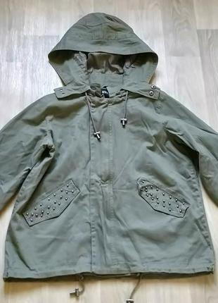 Женская демисезонная куртка парка ветровка с капюшоном new yorker