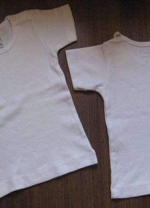 Новая белая футболочка skills на 3-6 мес, 100% хлопок