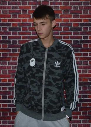 Олимпийка Bape x Adidas Кофта бейп a bathing ape (артикул: 1072)