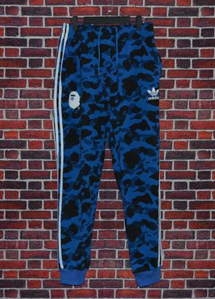 Спортивные штаны Bape x Adidas бейп a bathing ape (артикул: 1073)