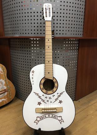 (1307) Гитара с Мастеровой Росписью Rock n Roll