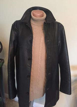 Мужская куртка полупальто натуральная кожа франция