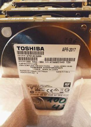 "Жесткий диск 2000 ГБ Toshiba 3.5"" / Винчестер 2Tb БУ / HDD 2017г."