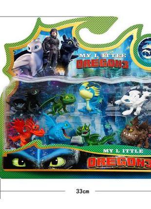 Набор игрушек Как приручить дракона 3 в блистере 8 Фигурок Дра...
