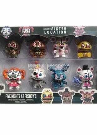 Набор фигурок 5 ночей с Фредди 8 шт -Five Nights At Freddy's +...