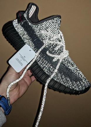"""Унисекс кроссвоки adidas yeezy boost 350 v2 """"black"""" рефлектив"""