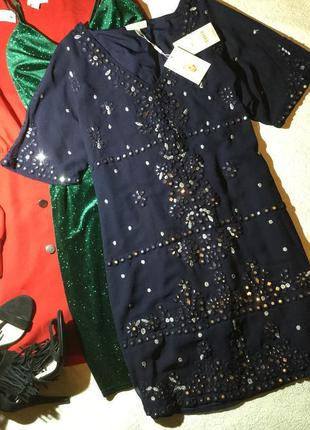 Платье вечернее блестящее monsoon размер s