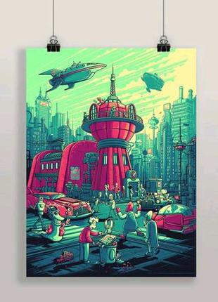 Плакат Futurama