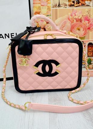 Сумка в стиле шанель chanel розовый  розовый цвет