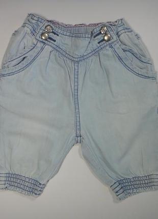 Голубые джинсовые шорты zara 9-12 мес, 78 см
