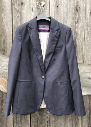 Женский пиджак жакет темно-синий