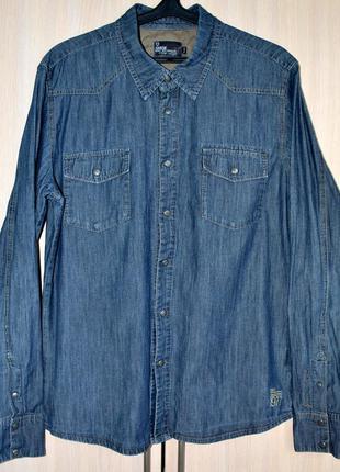 Рубашка джинсовая garcia® original xl б.у. su35a-5