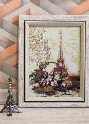 Картина вышитая бисером Пикник в Париже