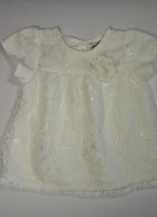 Белая туника-платье baby 3-6 мес, 68 см