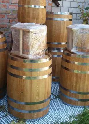 Производим бочки деревянные (дубовые) от 1-500 л!!