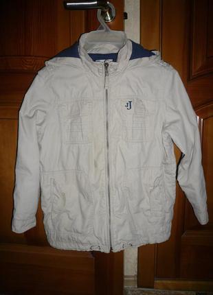Куртка ветровка котон на подкладе дебенхамс 8 лет 128 см хб
