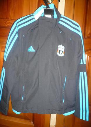 Спортивная кофта куртка адидас adidas 9-10 лет 140 см на сетке