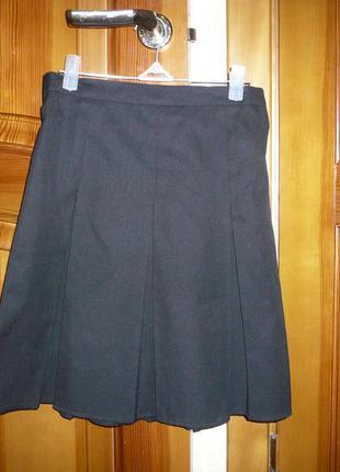 Юбка школьная джордж 9-10 лет 134-140 см
