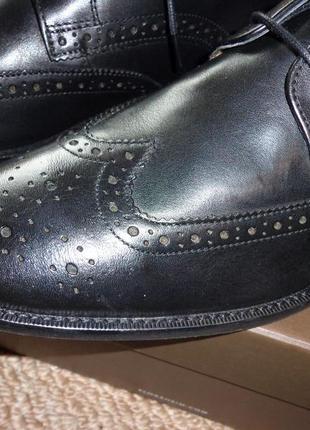 Мужские кожаные туфли оксфорды florsheim finley wing