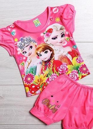 Комплект костюм лето на девочку 2-10 лет.