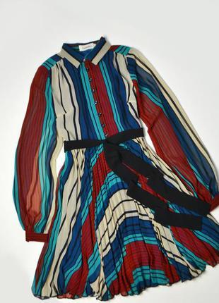 Стильно платье рубашка плиссе