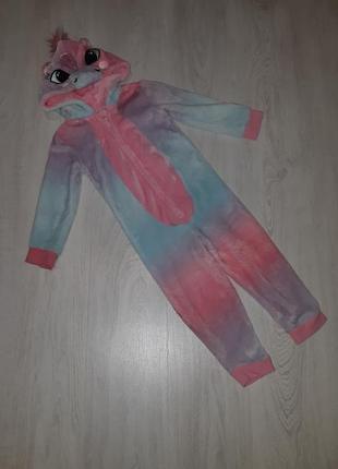 Кигуруми, пижама, карнавальный костюм единорога