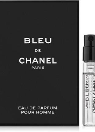 Пробник chanel bleu de chanel eau de parfum, edp, 1,5 ml, ориг...