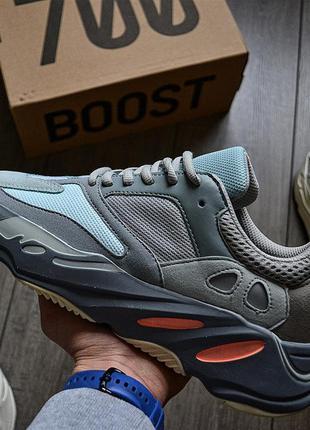 Adidas yeezy boost 700 wave runner inertia шикарные мужские кр...