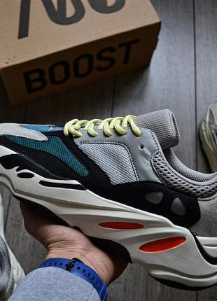 Adidas yeezy boost 700 wave runner solid grey шикарные женские...