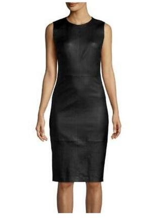 Кожаное платье vince оригинал новое размер s