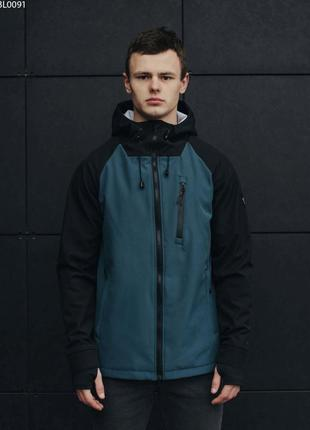 Куртка staff soft shell solar black & navy