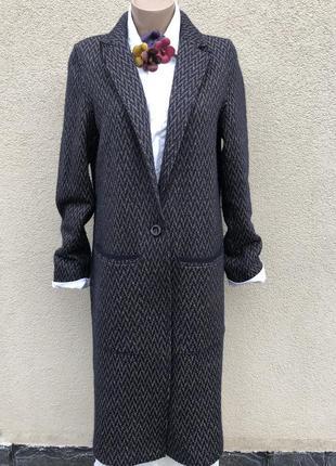 Красивое,фактурное,шерстяное пальто,кардиган на подкладке в пр...