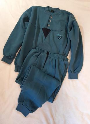Теплый домашний костюм кофта и брюки байка ozen