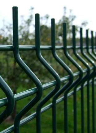 Забор секционный от завода. 3D панели. Зелёный город. Заграда.