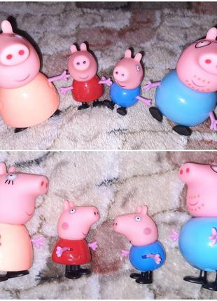 Свинка пеппа и семья фигурки