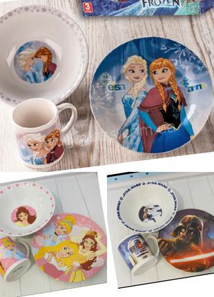 Детская керамическая посуда с любимыми героями