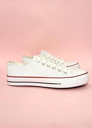 Кеды конверсы белые на белой подошве на шнурках летние кеды се...