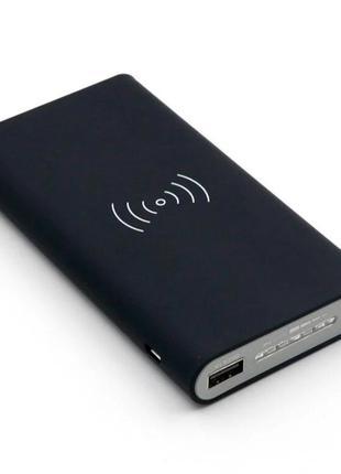 Зарядное устройство с беспроводной зарядкой QI Power Bank 10000 m