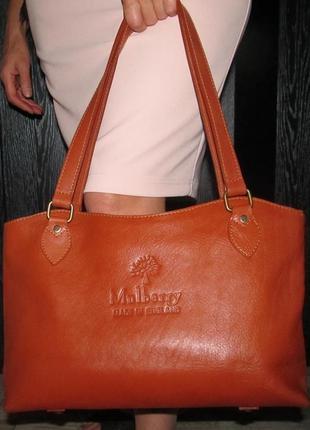 Кожана сумка мulberry