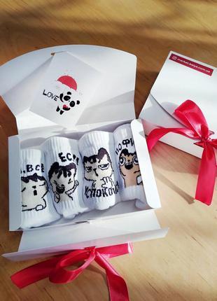 Подарочный набор женский носки 4 шт. коты