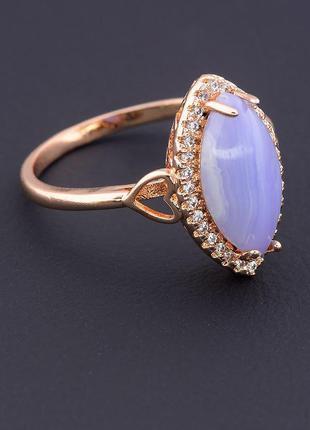Кольцо 'pataya' голубой агат (позолота 18к) 0597460