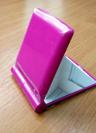 Зеркало карманное косметическое с подсветкой светодиодами 8led