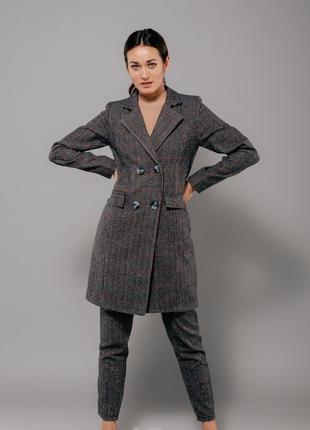 Костюм Клетчатое пальтишко и брюки S M L
