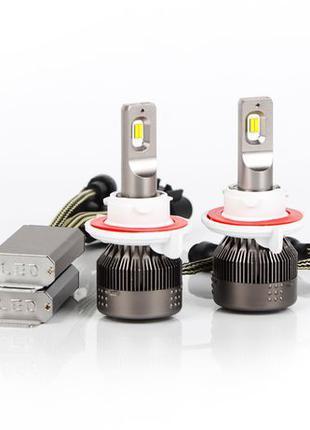 Светодиодные LED лампы авто Nissan Leaf цоколь H13 9008 лед би...