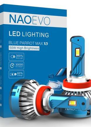 NAOEVO X5 самые мощные автомобильные светодиодные LED лампы H4...